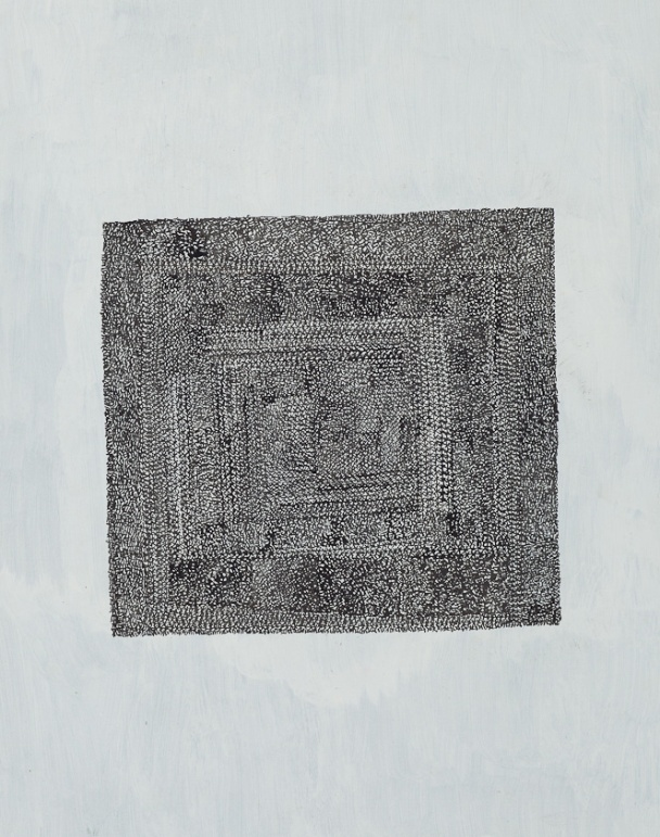 Untitled, circa 1981, ink and tempera on paper, 14 x 11 inches