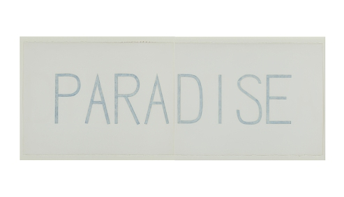 PARADISE, 1989, oil and ink on paper, 27 x 68.5 inches